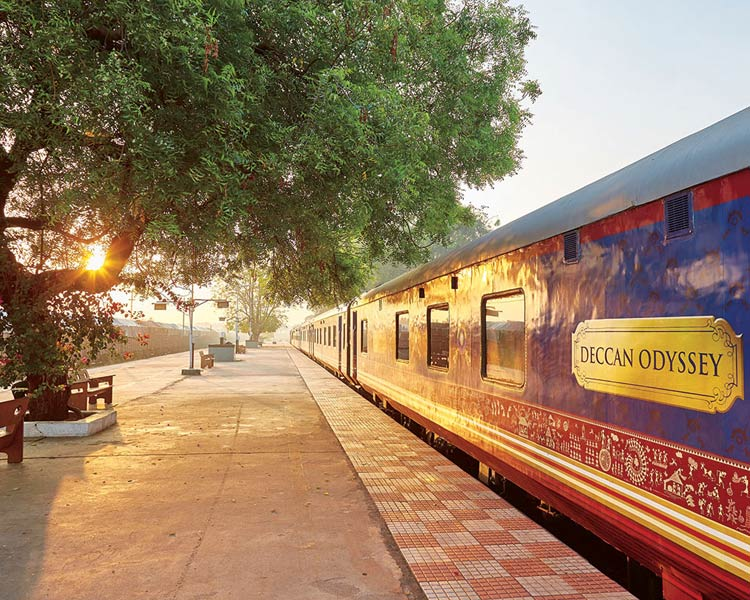 Deccan Odyssey at a Quaint Village Station